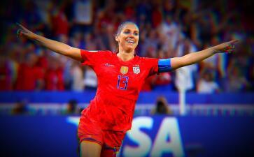 Alex Morgan coronó un día perfecto para ella: festejo por el gol del triunfo y cumpleaños
