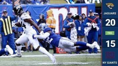 La defensiva de Jacksonville asfixia a los New York Giants en su propio patio