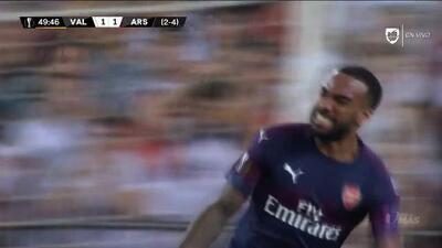 ¡GOOOL! Alexandre Lacazette anota para Arsenal