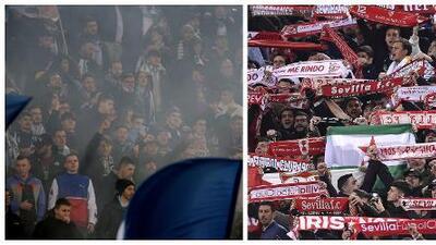Choca extrema derecha contra extrema izquierda en Lazio-Sevilla de Europa League