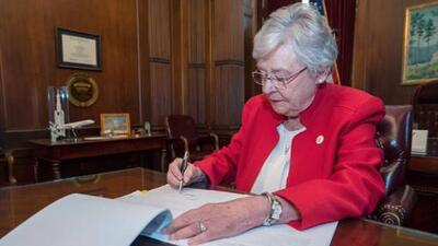Governor Key Ivey signed the controversial Alabama anti-abortion bill into law