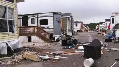 El huracán Dorian azotó con furia las Carolinas