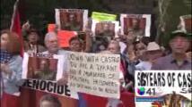 Cubanos protestan en Manhattan contra Castro