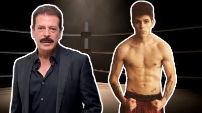 Sergio Goyri muestra orgulloso a su hijo cantante y boxeador