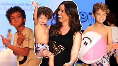 Uno de los hijos de Nacho se robó el show con un 'floss' en plena pasarela del Miami Fashion Week