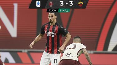 Mantiene Milan liderato tras emocionante empate ante la Roma