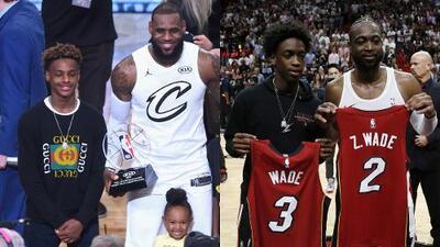 ¿Los hijos de LeBron y Wade, juntos? Sí, es posible