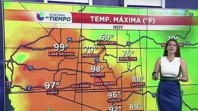 Clima caluroso este domingo en Arizona