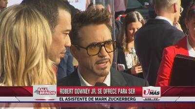 Robert Downey JR se ofrece a ser el asistente del dueño de Facebook