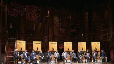 Los estudiantes de Nueva York toman el escenario de Hamilton en Broadway