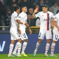 ¡Qué temor! Al PSG le bastaron cinco goles para vencer a Brujas