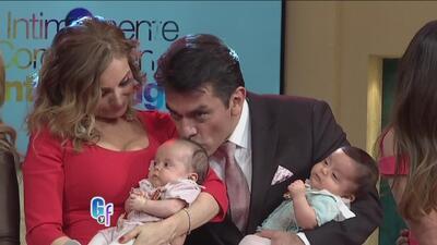 Los gemelos de Jorge Salinas y Elizabeth Álvarez ya son unas estrellas