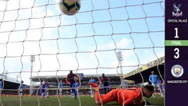 Pasito a pasito: Manchester City vence al Cyrstal Palace y sigue líder... por ahora
