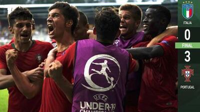 ¡Autoridad de Campeón! Portugal golea a Italia y desea refrendar su título en la Euro Sub-19