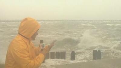 Imágenes en vivo de Corpus Christi antes de la llegada del huracán Harvey