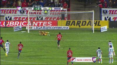 Penalti, roja y fallo de Leobardo López en el Veracruz vs. León