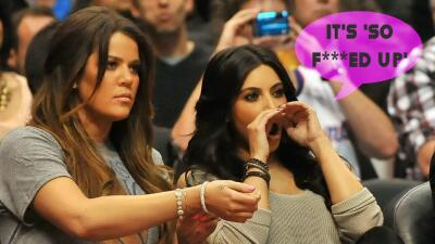 "Kim Kardashian usó la frase ""fu***d up"" para describir lo que vive su hermana Khloé 🙊"