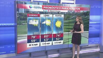 Cielos mayormente nublados y condiciones cálidas para este domingo en Houston