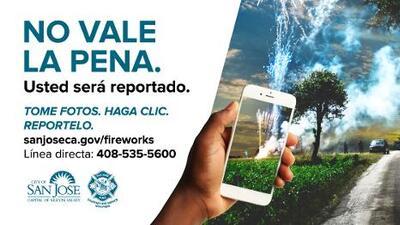 San José lanza una nueva herramienta en línea para denunciar el uso ilegal de fuegos artificiales