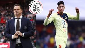 """Overmars está encantado con Edson Álvarez: """"Puede manejarse en varias posiciones"""""""