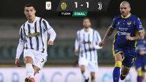 Juventus y Cristiano Ronaldo tropiezan con el Verona