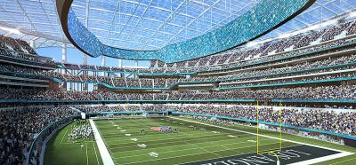 Así será el estadio que albergará el Super Bowl en 2022 en la ciudad de Los Ángeles