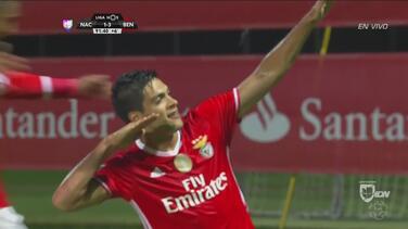 Con gol de Raúl Jiménez, Benfica superó al Nacional de Madeira