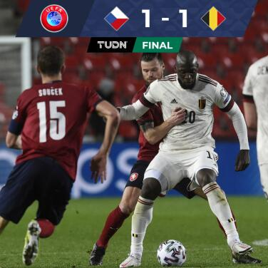 Lukaku rescató el empate para Bélgica ante República Checa