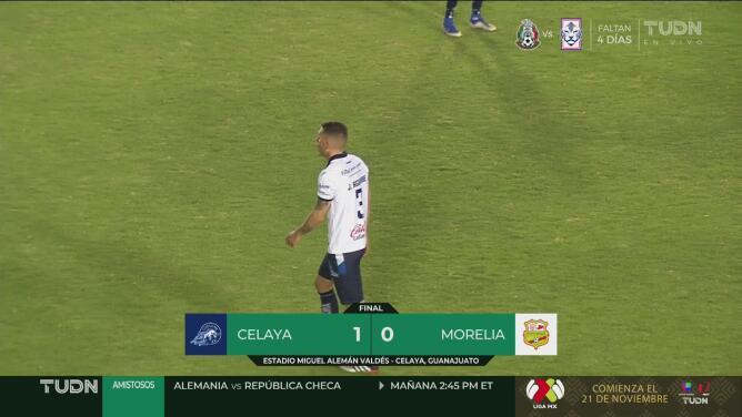 Resumen | Club Celaya 1-0 Club Atlético Morelia, mantienen liderato