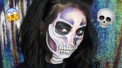 Laura Sánchez te muestra paso a paso a maquillarte de calavera para Halloween