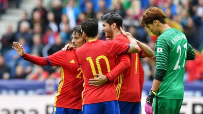 España se da un festival de goles ante una débil Corea del Sur
