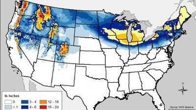 Nueva ola de frío extremo afectará el 80% de EEUU esta semana
