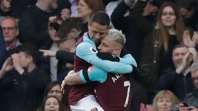 Gol de 'Chicharito', nominado al mejor del año en el West Ham