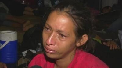 La conmovedora súplica de una madre que forma parte de la caravana migrante
