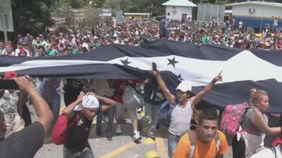 Caravana de migrantes hondureños vivió una odisea para llegar a Guatemala rumbo a Estados Unidos
