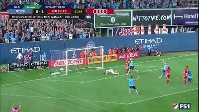 David Villa perfora las redes con mágica asistencia y sublime definición, NY City 1-1 NY Red Bulls
