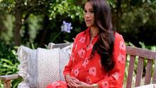Meghan Markle reaparece en TV enseñando su avanzado embarazo y con un mensaje oculto en su look