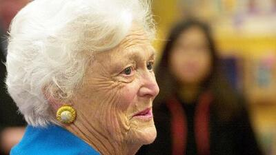 Así recuerda una familia de Houston el día en que conoció a Barbara Bush