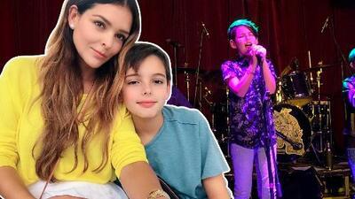 El hijo de Grettell Valdez ofrece un concierto de rock y solo tiene 10 años