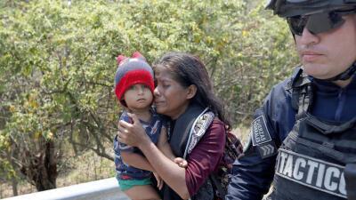 Detenidos antes de atravesar México: el mayor operativo de arrestos a migrantes centroamericanos (fotos)