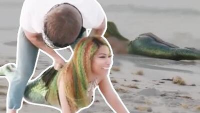 Nicki Minaj se quedó atrapada en una cola de sirena