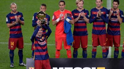 Messi ofrece su quinto Balón de Oro al Camp Nou  c3cfef786e5c7