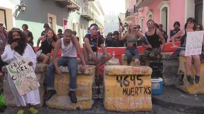 Quinto día de manifestaciones en el viejo San Juan