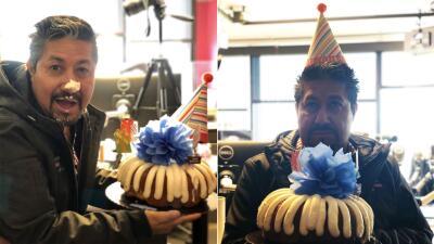 📸 El Feo fue el consentido del show por su cumpleaños