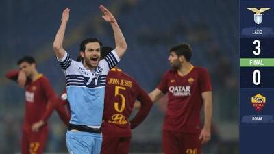 La Lazio se lleva el Clásico de Roma y ahora tiene a la Loba a tres puntos