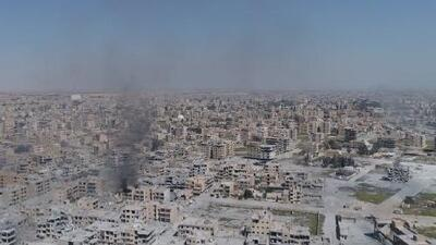 Imágenes aéreas de la destrucción en Raqa, el último bastión de Estado Islámico en Siria