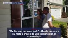 """""""Me llenó el corazón verlo"""": Abuela conoce a su nieto a través de una ventana por el coronavirus"""