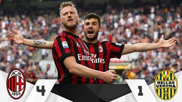 Milan golea al Hellas Verona y lo envía a la segunda división de Italia
