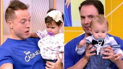 Xavi Sol y Alejandro Berry comenzaron su entrenamiento para ser papás en el 'baby shower' de Lindsay Casinelli