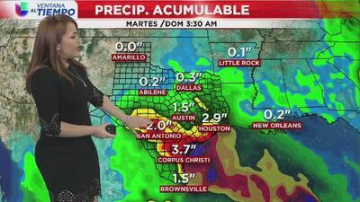 Lluvias dispersas y temperaturas agradables continuarán vigentes durante este miércoles en Houston